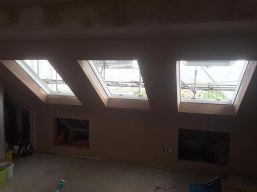 Plasterer services for new build extensions
